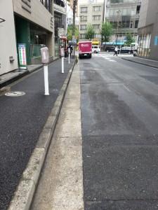 工事後の道路